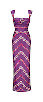 Purple Missoni dress on white background