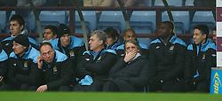 BIRMINGHAM, ENGLAND - Sunday, February 12, 2012: Manchester City's manager Roberto Mancini during the Premiership match against Aston Villa at Villa Park. (Pic by David Rawcliffe/Propaganda)