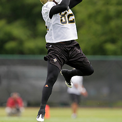 05 June 2009: Saints receiver Paris Warren (82) participates in drills during the New Orleans Saints Minicamp held at the team's practice facility in Metairie, Louisiana.