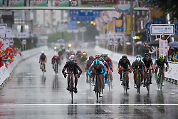 Sprint finish between Arlenis Sierra Canadilla (CUB) and Hannah Barnes (GBR)at GREE Tour of Guangxi Women's World Tour 2018, a 145.8 km road race in Guilin, China on October 21, 2018. Photo by Sean Robinson/velofocus.com