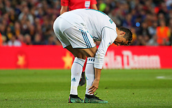 May 6, 2018 - Barcelona, Catalonia, Spain - Cristiano Ronaldo suffers from an injury after scoring a goal during the match between FC Barcelona and Real Madrid CF, played at the Camp Nou Stadium on 06th May 2018 in Barcelona, Spain.  Photo: Joan Valls/Urbanandsport /NurPhoto. (Credit Image: © Joan Valls/NurPhoto via ZUMA Press)