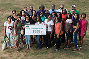 Ohio University graduates from the 2000s pose for a portrait during the 2016 Black Alumni Reunion's 'Through the Decades Cookout' at Tailgreat Park on Saturday, September 17, 2016.
