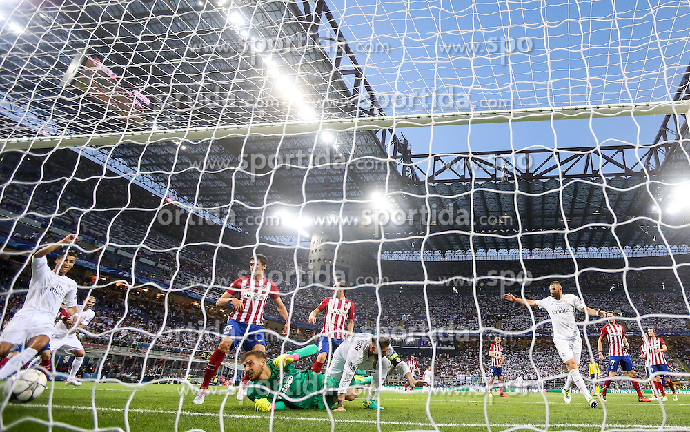 Jan Oblak of Atlético after Sergio Ramos of Real Madrid scored first goal during football match between Real Madrid (ESP) and Atlético de Madrid (ESP) in Final of UEFA Champions League 2016, on May 28, 2016 in San Siro Stadium, Milan, Italy. Photo by Vid Ponikvar / Sportida