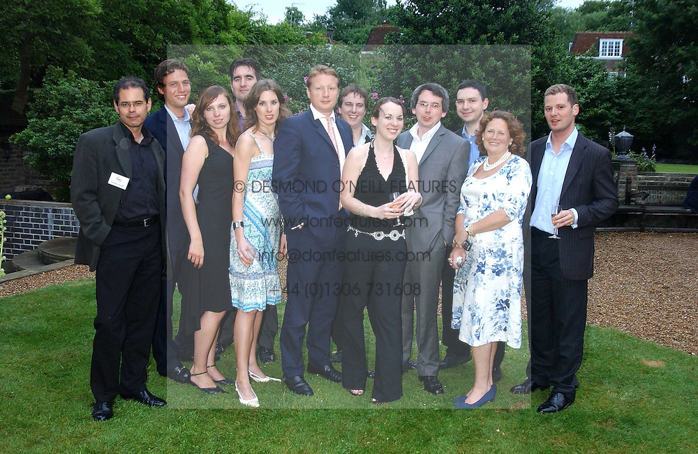 at the No Campaign's Summer Party - a celebration of the 'Non' and 'Nee' votes in the Europen referendum in France and The Netherlands held at The Peacock House, 8 Addison Road, London W14 on 5th July 2005.<br />