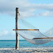 Punta Cana, Dominican Republic - April 14: Hammocks wave in the breeze in the Dominican Republic, April 14, 2007.