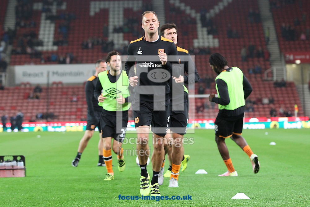 David Meyler of Hull City warms up prior to the EFL Cup match against Stoke City at the Bet 365 Stadium, Stoke-on-Trent.<br /> Picture by Michael Sedgwick/Focus Images Ltd +44 7900 363072<br /> 21/09/2016