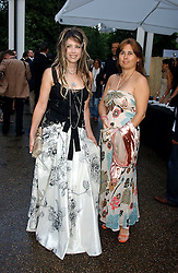 Left to right, GELA TAYLOR wife of Duran Duran musician John Taylor and ALEXANDRA SHULMAN at the annual Serpentine Gallery Summer Party co-hosted by Jimmy Choo shoes held at the Serpentine Gallery, Kensington Gardens, London on 30th June 2005.<br />