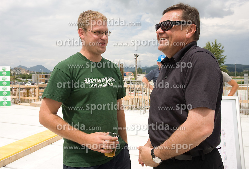 Leader of Green Dragons and Mayor of Ljubljana Zoran Jankovic at open door day 1 year before opening of new football stadium and sports hall in Stozice,  on June 30, 2009, at Stadium Stozice, Ljubljana, Slovenia. (Photo by Vid Ponikvar / Sportida)