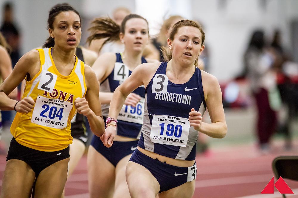 ECAC Indoor Champs, womens 800 heat 3, Hubbard, Jocelyn          JR Georgetown
