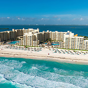 Aerial View of Royal Resorts. Quintana Roo, Mexico.