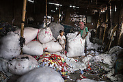 A view inside a recycled cotton factory in Kamrangirchar, Dhaka.