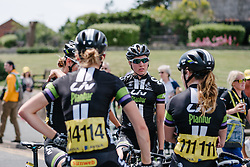 Liv Plantur catch up after the sprint finish to stage 2.