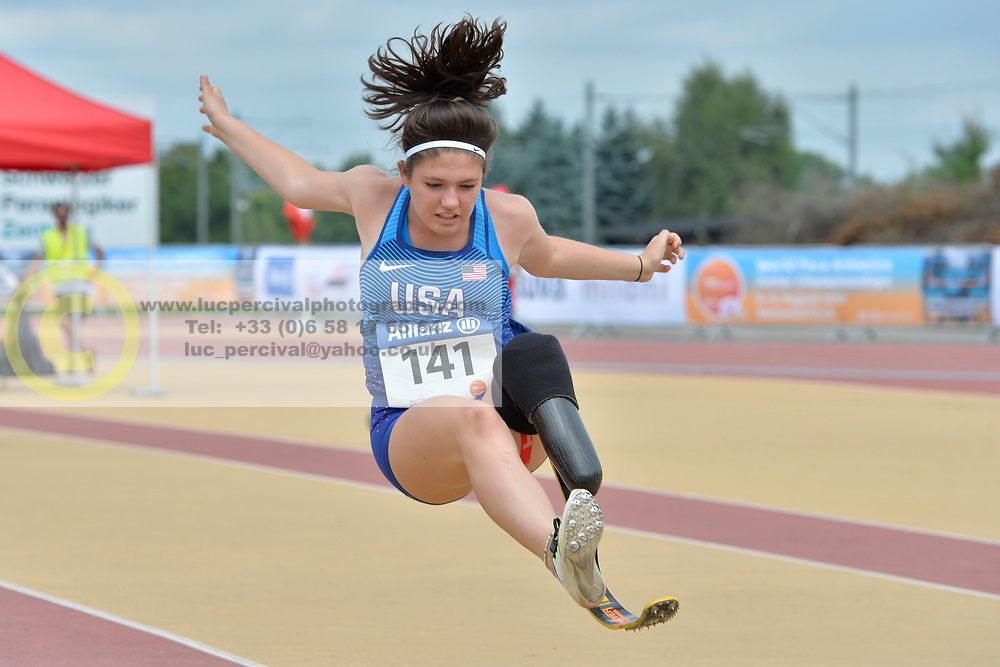 04/08/2017; Silvey, Erica, F44, USA at 2017 World Para Athletics Junior Championships, Nottwil, Switzerland
