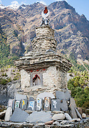 Buddhist tomb in the Himalayas (Nepal)