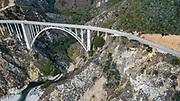 August 16, 2017: Bixby Bridge Pacific Coast Highway, Monterey California