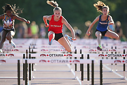 (Ottawa, Canada---17 July 2019) Emily Brennan competing in Ottawa Summer Twilight Track and Field Meet #6 at the Terry Fox Athletic Facility. 2019 Copyright Sean Burges / Mundo Sport Images.