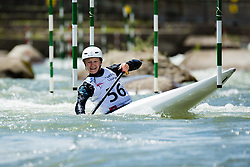 Katja Bengeri during the Kayak Single (C1) Men race of Tacen Cup 2020 on May 24, 2020 in Tacen, Ljubljana, Slovenia. Photo By Grega Valancic / Sportida