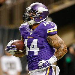 Sep 21, 2014; New Orleans, LA, USA; Minnesota Vikings running back Matt Asiata (44) before a game against the New Orleans Saints at Mercedes-Benz Superdome. Mandatory Credit: Derick E. Hingle-USA TODAY Sports