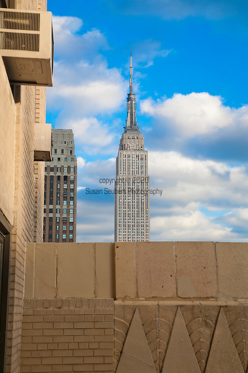 View of the Empire State Building from the New Yorker Hotel