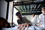 "Patients of the Dost Foundation, one of the most important rehabilitation center for drug addiction. Peshawar. Pakistan, on tuesday, August 26 2008.....""Pakistan is one of the countries hardest hits by the narcotics abuse into the world, during the last years it is facing a dramatic crisis as it regards the heroin consumption. The Unodc (United Nations Office on Drugs and Crime) has reported a conspicuous decline in heroin production in Southeast Asia, while damage to a big expansion in Southwest Asia. Pakistan falls under the Golden Crescent, which is one of the two major illicit opium producing centres in Asia, situated in the mountain area at the borderline between Iran, Afghanistan and Pakistan itself. .During the last 20 years drug trafficking is flourishing in the Country. It is the key transit point for Afghan drugs, including heroin, opium, morphine, and hashish, bound for Western countries, the Arab states of the Persian Gulf and Africa..Hashish and heroin seem to be the preferred drugs prevalence among males in the age bracket of 15-45 years, women comprise only 3%. More then 5% of whole country's population (constituted by around 170 milion individuals),  are regular heroin users, this abuse is conspicuous as more of an urban phenomenon. The substance is usually smoked or the smoke is inhaled, while small number of injection cases have begun to emerge in some few areas..Statistics say, drug addicts have six years of education. Heroin has been identified as the drug predominantly responsible for creating unrest in the society."""