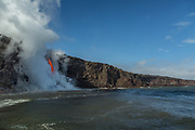 Hawaii fire hose lava flow, Volcanoes National Park Fire hose lava flow from Hawaii's Kilauea Volcano , Volcanoes National Park, Hawaii