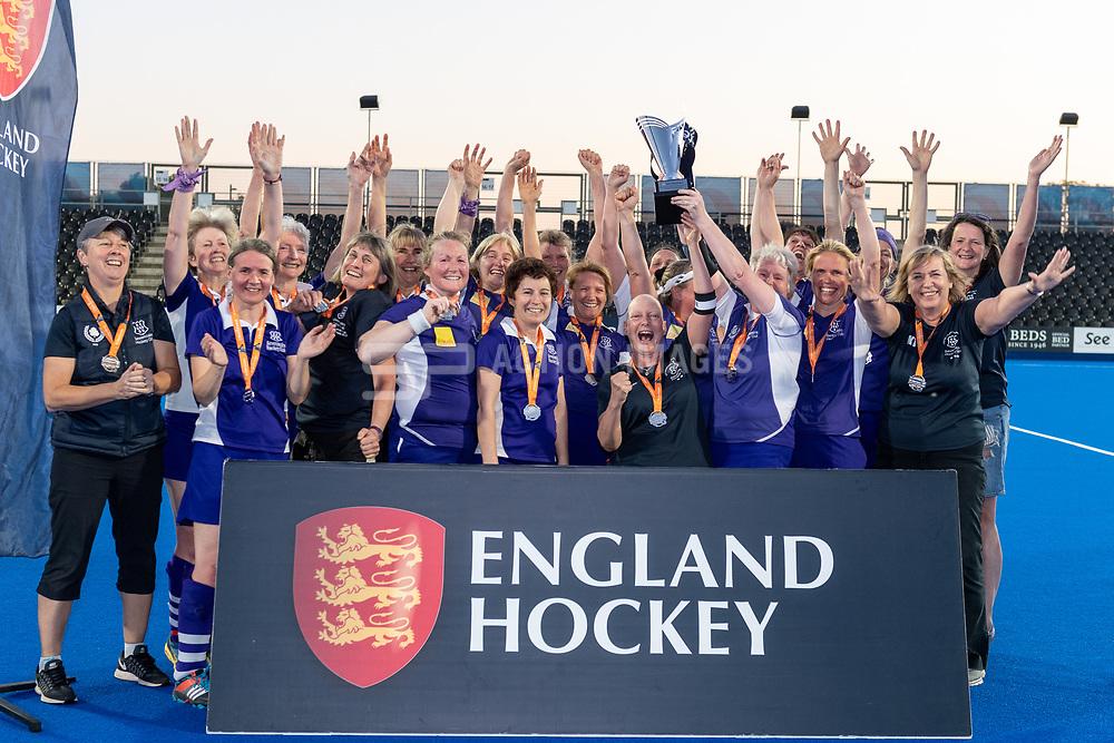 Cambridge City v Sevenoaks - Investec Women's O45s T1 Final, Lee Valley Hockey & Tennis Centre, London, UK on 05 May 2018. Photo: Simon Parker