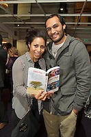 "Sene and George Naoupu at the launch of Ronan Scully's New book ""Time Out"" An Innovative collaboration of words, reflections and stories of goodness, tenderness and positivity for all our lives combine to great effect in this new publication published by Ballpoint Press in aid of Self Help Africa and `The Irish Guide dogs for the Blind  at Hotel Meyrick in Galway. Picture:Andrew Downes"