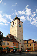 The bell tower at Mare square, Sibiu, Transylvania, Romania