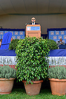 COOPERSTOWN, NY - JULY 26: MLB Commissioner Rob Manfred addresses the audience during the Induction Ceremony at National Baseball of Hall of Fame on July 26, 2015 in Cooperstown, New York. (Photo by Jennifer Stewart/Arizona Diamondbacks/Getty Images)
