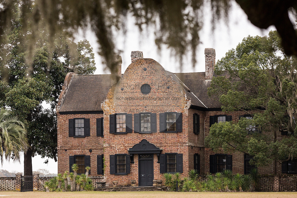 Manor house at Middleton Place Plantation in Charleston, SC.