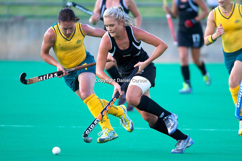Samantha Harrison. Hockeyroos v New Zealand International Hockey match. Curtin Hockey Stadium, Perth. Wednesday 17 February 2010. Photo: Daniel Carson/PHOTOSPORT