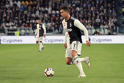May 19, 2019 - Turin, Turin, Italy - Cristiano Ronaldo #7 of Juventus FC in action during the serie A match between Juventus FC and Atalanta BC at Allianz Stadium on May 19, 2019 in Turin, Italy. (Credit Image: © Giuseppe Cottini/NurPhoto via ZUMA Press)