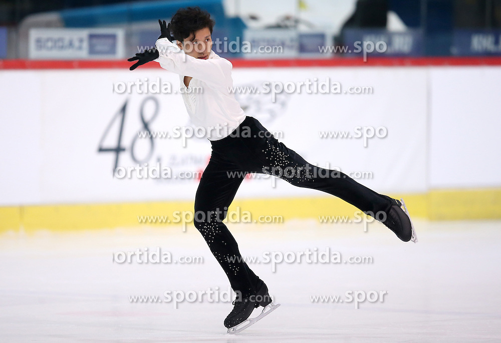 04.12.2015, Dom Sportova, Zagreb, CRO, ISU, Golden Spin of Zagreb, freies Programm, Herren, im Bild Kwun Hung Leung, Hong Kong. // during the 48th Golden Spin of Zagreb 2015 men Free Program of ISU at the Dom Sportova in Zagreb, Croatia on 2015/12/04. EXPA Pictures &copy; 2015, PhotoCredit: EXPA/ Pixsell/ Igor Kralj<br /> <br /> *****ATTENTION - for AUT, SLO, SUI, SWE, ITA, FRA only*****