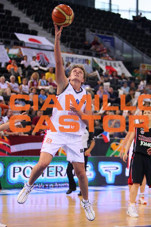 DESCRIZIONE : Madrid 2008 Fiba Olympic Qualifying Tournament For Women Quater Finals Czech Republic Japan <br /> GIOCATORE : Machova <br /> SQUADRA : Czech Republic Repubblica Ceca <br /> EVENTO : 2008 Fiba Olympic Qualifying Tournament For Women <br /> GARA : Czech Republic Japan Repubblica Ceca Giappone <br /> DATA : 13/06/2008 <br /> CATEGORIA : Tiro <br /> SPORT : Pallacanestro <br /> AUTORE : Agenzia Ciamillo-Castoria/S.Silvestri <br /> Galleria : 2008 Fiba Olympic Qualifying Tournament For Women <br /> Fotonotizia : Madrid 2008 Fiba Olympic Qualifying Tournament For Women Quater Finals Czech Republic Japan <br /> Predefinita :
