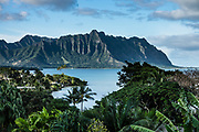 Kaneohe Bay, island of Oahu, Hawaii, USA.