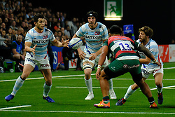 December 9, 2018 - Nanterre, Hauts de Seine, France - Racing 92 Fullback BRICE DULIN in action during the rugby Champions Cup Day 3 between Racing 92 and Leicester at U Arena Stadium in Nanterre - France..Racing 92 Won 36-26. (Credit Image: © Pierre Stevenin/ZUMA Wire)