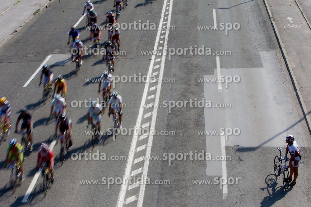 Riders during cyclig Marathon Franja BTC City - Johan Museeuw Classic (156km), on June 12, 2011 in Ljubljana, Slovenia.  (Photo By Vid Ponikvar / Sportida.com)