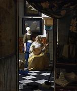 Johannes Vermeer (1632-1674) Dutch painter,  the Love Letter, c. 1669–70 oil on canvas
