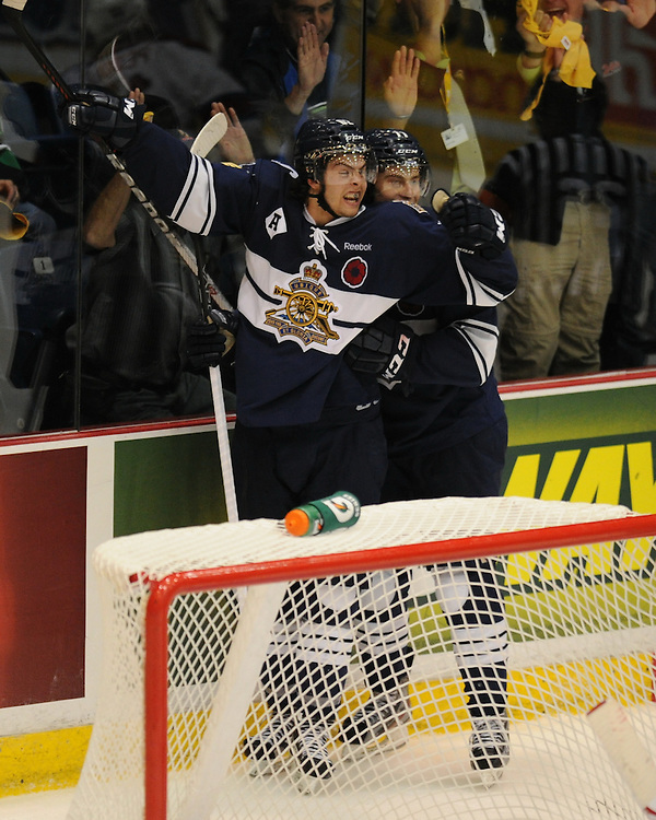 Action from the opening game at the 2012 MasterCard Memorial Cup in Shawinigan, Quebec between the Shawinigan Cataractes and the edmonton Oil Kings on Friday May 18, 2012. Photo by Aaron Bell/CHL Images