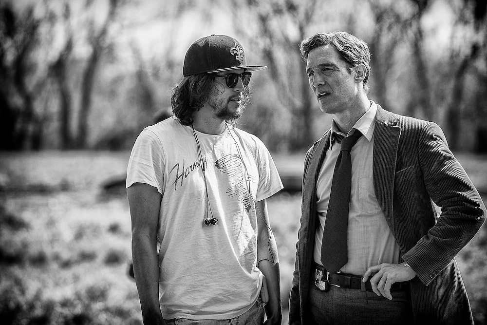 """Behind the scenes with Director Cary Fukunaga and Matthew McConaughey on the set of HBO's """"True Detective"""" Season 1."""