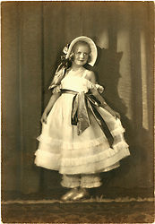 ballerina young girl on toe circa 1925