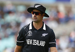 May 25, 2019 - London, England, United Kingdom - Colin de Grandhomme of New Zealand.during ICC World Cup - Warm - Up between India and New Zealand at the Oval Stadium , London,  on 25 May 2019.Credit Action Foto Spor  (Credit Image: © Action Foto Sport/NurPhoto via ZUMA Press)