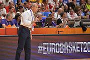 Ettore Messina<br /> Nazionale Italiana Maschile Senior<br /> Eurobasket 2017 - Group Phase<br /> Georgia - Italia<br /> FIP 2017<br /> Tel Aviv, 02/09/2017<br /> Foto Ciamillo - Castoria/ M.Longo