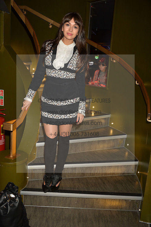 ZARA MARTIN at a party to celebrate the 1st anniversary of Hello! Fashion Monthly magazine held at Charlie, 15 Berkeley Street, London on 14th October 2015.