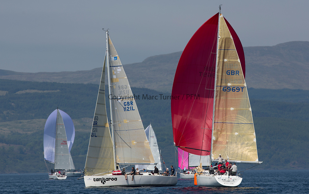 Silvers Marine Scottish Series 2017<br /> Tarbert Loch Fyne - Sailing<br /> <br /> GBR6969T, Grand Cru, Steve Cowie, RGYC, First 40.7 and GBR1121L, Tangaroa, Eliz &amp; Des Balmforth, CCC, Pronavia 38