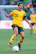 MELBOURNE, VIC - MARCH 06: Samantha Kerr (20) of Australia reacts after being offside during The Cup of Nations womens soccer match between Australia and Argentina on March 06, 2019 at AAMI Park, VIC. (Photo by Speed Media/Icon Sportswire)