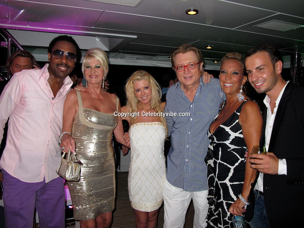 Jeffery Dread, Ivana Trump, Tara Reid, Peter Cervinka, Denise Rich and Michael Axtman..Denise Rich Annual Party..Lady Joy Yacht..St. Tropez, France..Wednesday, July 28, 2010..Photo ByiSnaper.com/ CelebrityVibe.com.To license this image please call (212) 410 5354; or Email:CelebrityVibe@gmail.com ;.website: www.CelebrityVibe.com.