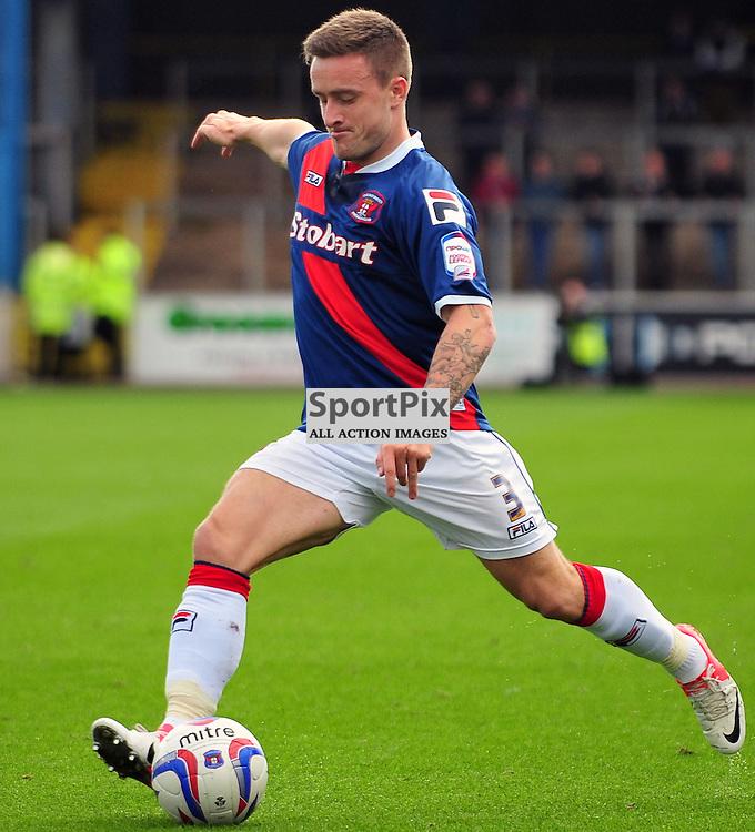 Matty Robson (Carlisle United, blue) ..Carlisle v Crawley, Npower League One, 29th September 2012..(c)  Alex Todd | StockPix.eu