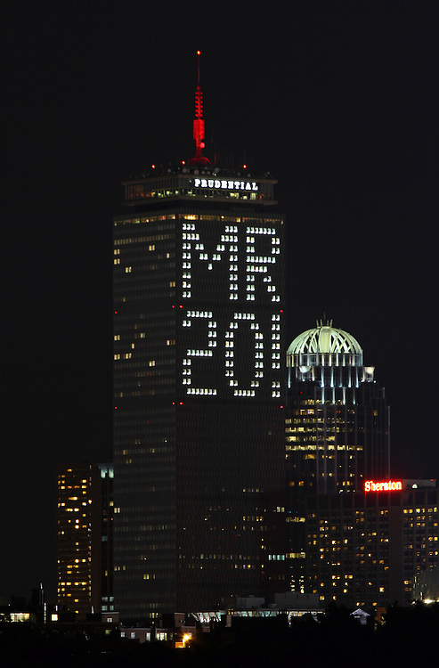Boston Prudential Center is lit up with the message Mr 20! which puzzled the entire city of Boston and asking themselves: Who is Mr. 20? The message is in honor of Malcolm Rogers, a British-born, American curator and current art director of the Museum of Fine Arts in Boston. He is retiring after 20 years and I only can applaud the folks from The Pru, what a great gesture! <br /> This Boston photograph from my photos of Boston galleries is available as museum quality photography prints, canvas prints, acrylic prints or metal prints. Prints may be framed and matted to the individual liking and decorating needs.<br /> <br /> http://juergen-roth.artistwebsites.com/featured/who-is-mr-20-juergen-roth.html<br /> <br /> Good light and happy photo making!<br /> <br /> My best,<br /> <br /> Juergen<br /> http://www.exploringthelight.com<br /> http://www.rothgalleries.com<br /> @NatureFineArt<br /> http://whereintheworldisjuergen.blogspot.com/<br /> https://www.facebook.com/naturefineart