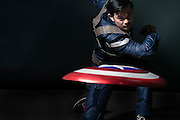 Osric Chau as Captain America, Vegas Cosplay Portrait, VegasCon 2016